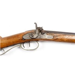 Early 19th C Joseph Golcher Percussion Rifle