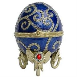 "12"" Jeweled Oriental Elephant Faberge Inspired Easter Egg"