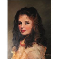 Student Of Copnall, Signed Oil Portrait Of A Young Girl