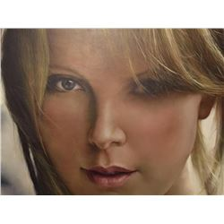 Signed Photo-realism Oil Painting, Charlize Theron