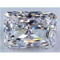 1.06cts Octagon Cut Bianco Diamond 6AAAAAA Loose Gemstone