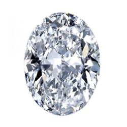 2.54cts Oval Cut Bianco Diamond 6AAAAAA Loose Gemstone