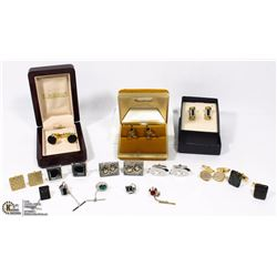 A LOT & VARIETY OF MENS CUFFLINKS