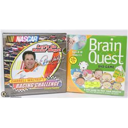 2 FACTORY SEALED TRIVIA GAMES - 1 DVD BRAIN QUEST