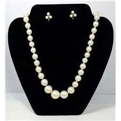 11 - SET OF GRADUATED SIZED PEARL NECKLACE