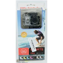 NEW 1080P HD SPORTS ACTION CAM WITH MOUNTS