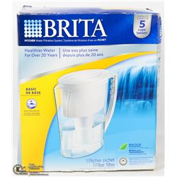 BRITA 5 CUP WATER PITCHER WITH 1 FILTER
