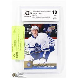 2017/18 UD MJ HOLDINGS WILLIAM NYLANDER GRADED 10