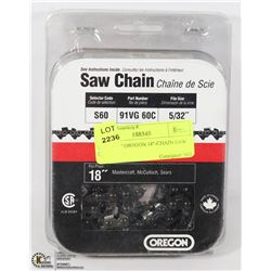 "TWO NEW OREGON 18""-CHAIN SAW CHAINS -"