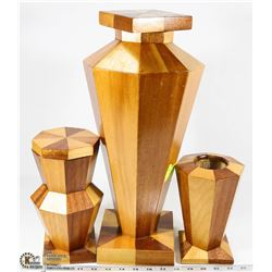 3PC WOOD HOME DECOR SET