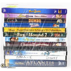 BUNDLE OF 12 WALT DISNEY DVD MOVIES -