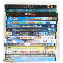 BUNDLE OF 15 CHILDREN'S DVD MOVIES -