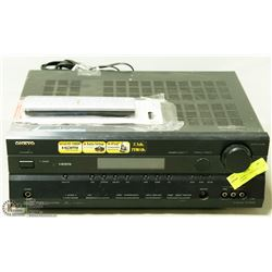 ONKYO BRAND AC RECEIVER 7.1 CH WITH REMOTE