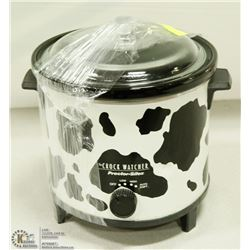 BLACK & WHITE CROCKPOT W/LID (WORKING) -
