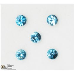 24) GENUINE BLUE ZIRCON GEMSTONES