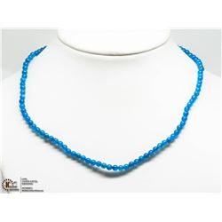 39) STERLING SILVER APATITE BEAD NECKLACE