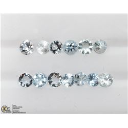 41) GENUINE BLUE TOPAZ GEMSTONES