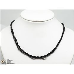45) STERLING SILVER SPINELLE BEAD NECKLACE