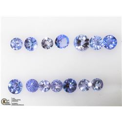46) GENUINE TANZANITE GEMSTONES