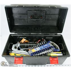 TOOL BOX CONTAINING ASSORTED TOOLS