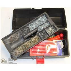 38) BLACK TOOL BOX WITH CONTENTS