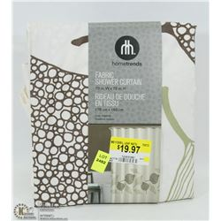 "HOMETRENDS FABRIC SHOWER CURTAIN 70"" X 72"""