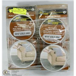 BUNDLE OF 4 PACKS OF FURNITURE SLIDERS
