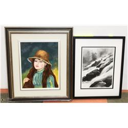 RENOIR COPY PAINTED BY KAREN STEVENS FRAMED WITH