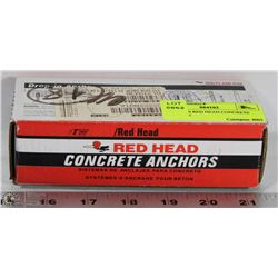 BOX OF 50 RED HEAD CONCRETE ANCHORS