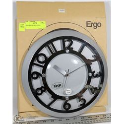 NEW ERGO METAL QUARTZ CLOCK