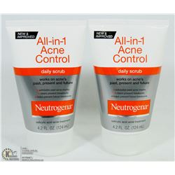 LOT OF 2 NEUTROGENA ALL IN 1 ACNE CONTROL DAILY