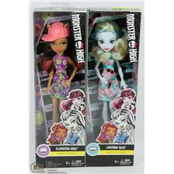 TWO NEW MONSTER HIGH DOLLS