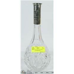 1927 CRYSTAL SILVER TOPPED DECANTER AWARD FOR