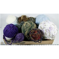 FLAT OF ASSORTED YARNS