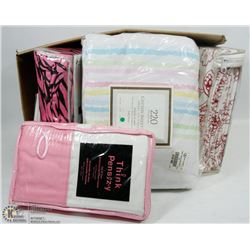 LOT OF QUEEN SHEET SETS , DUVET COVER AND MORE