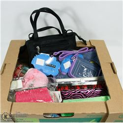 FLAT OF NEW PURSES, WALLETS, COIN PURSES AND MORE