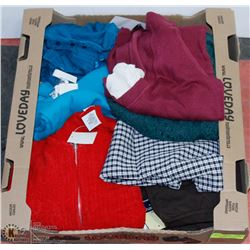 FLAT OF ASSORTED NEW CLOTHING ASSORTED SIZES