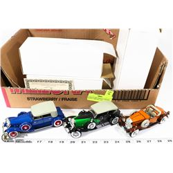 3 COLLECTIBLE REPLICA VINTAGE MODEL CARS INCL 1932