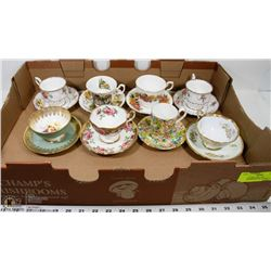 ESTATE CHINA TEA CUP COLLECTION, ROYAL ALBERT &