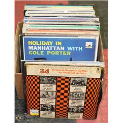 BOX OF OVER 50 RECORDS INCL ELLA FITZGERALD,