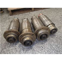 """Spindle Units, Overall: 17"""" x 6.5"""" x 6.5"""""""