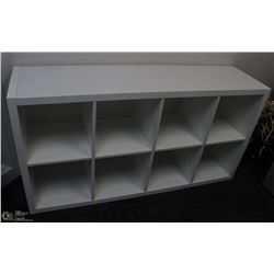 8 SECTION SHELVING UNIT, CAN BE USED VERTICALLY OR