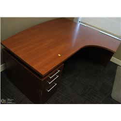 LEFT ANGLE DESK WITH 3 DRAWER UNDER DESK CABINET