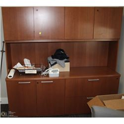 OFFICE STORAGE CABINET WITH HUTCH 72X20X70