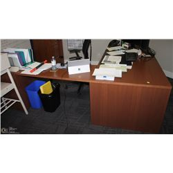 RIGHT ANGLE DESK WITH TWO UNDERMOUNT DRAWER