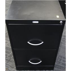 BLACK 2 DRAWER FILE CABINET 18X26.5X29
