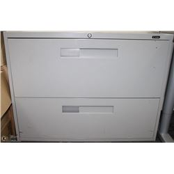 2 DRAWER GREY LATERAL FILE CABINET