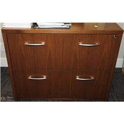 BROWN 2 DRAWER LATERAL FILE CABINET 36X24X29