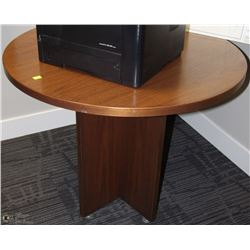 ROUND OFFICE CONFERENCE TABLE ON CASTORS 36X30