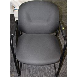 BLACK OFFICE ARM CHAIR